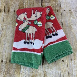Christmas Kitchen Towel Set Merry Moose